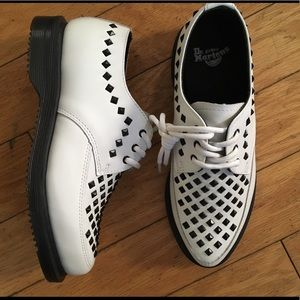 White studded Dr. Martens Creepers! Brand New s 5